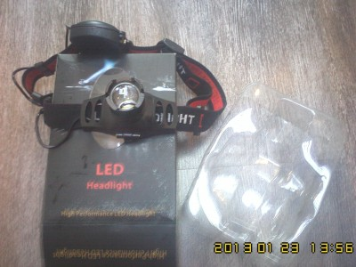 Китайский налобный фонарь со светодиодом Cree Q3 led.