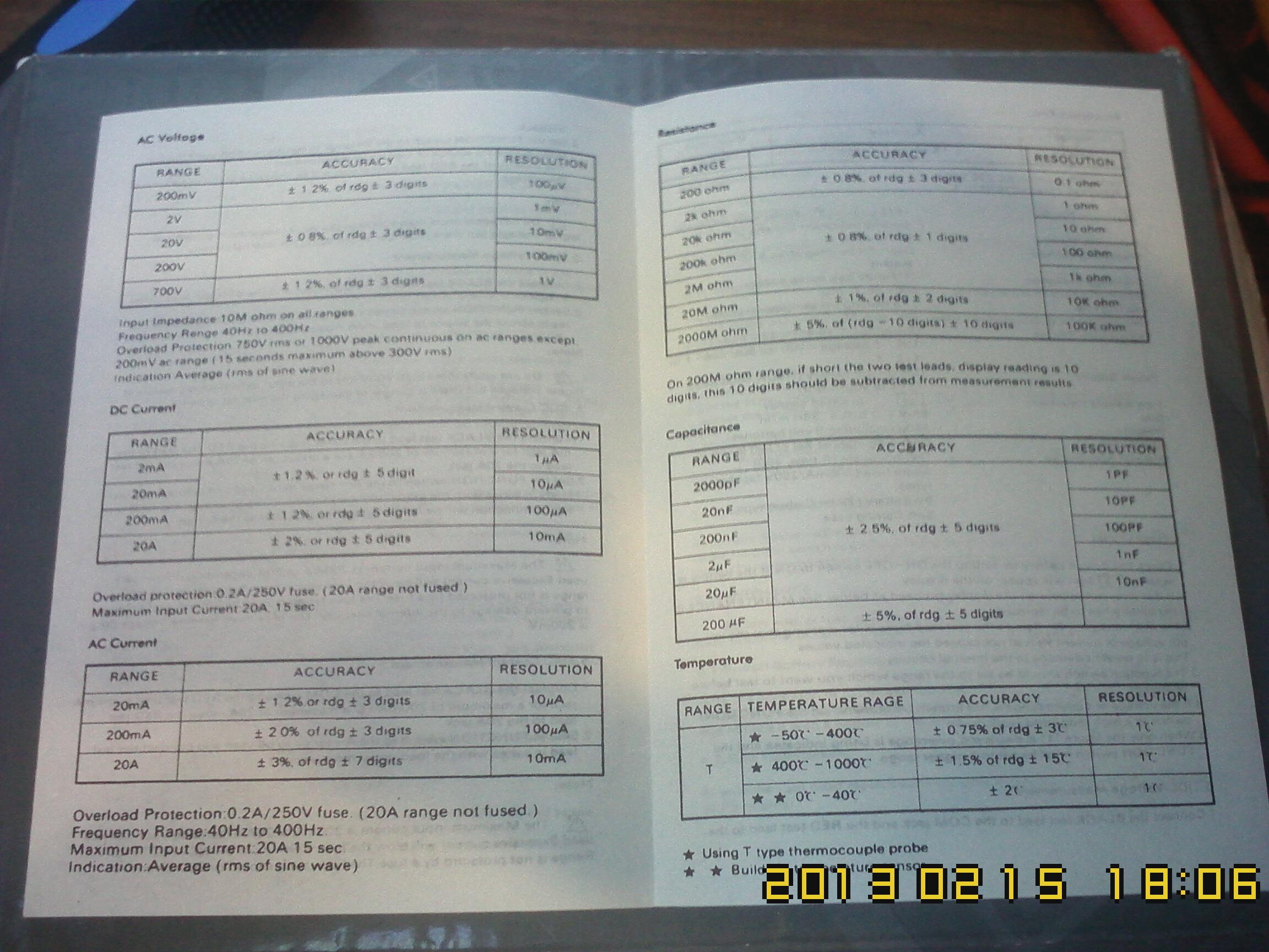 Инструкция по эксплуатации мультиметра dt9205a